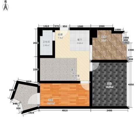 天邻风景2室0厅1卫1厨105.00㎡户型图