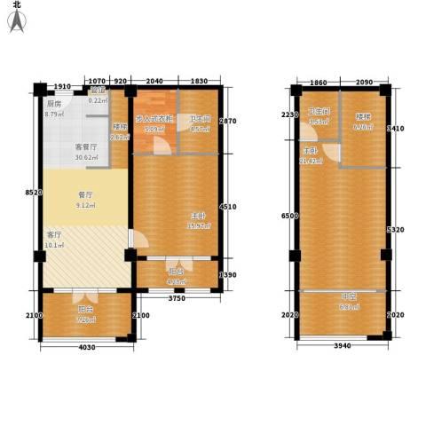 一杯澜2室1厅2卫0厨105.92㎡户型图