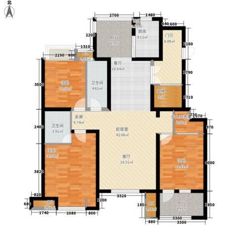 远见3室0厅2卫1厨144.00㎡户型图