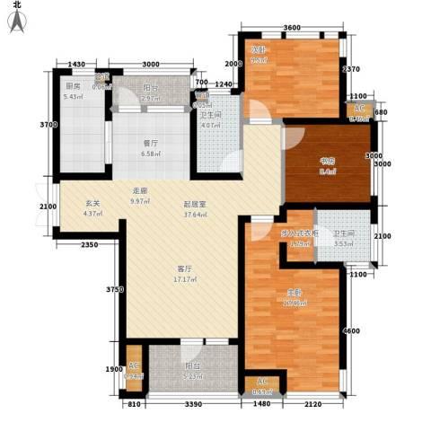 远见3室0厅2卫1厨139.00㎡户型图