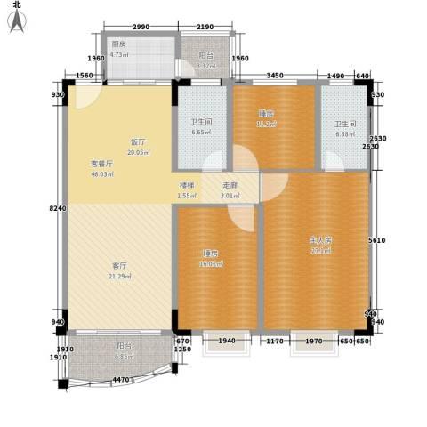 曲江翠竹园1厅2卫1厨143.00㎡户型图
