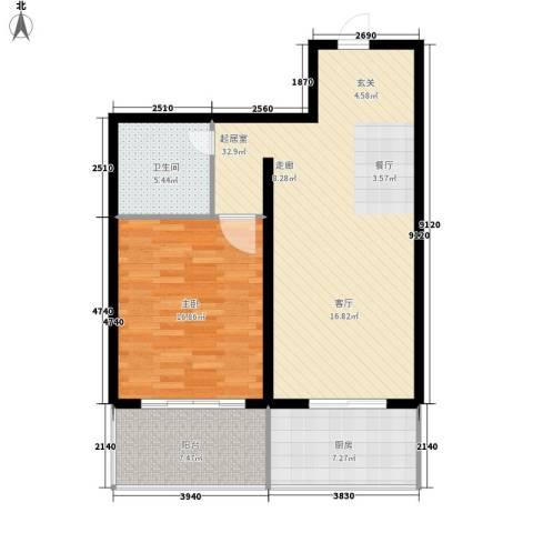 伟东城市精英领域1室0厅1卫1厨78.00㎡户型图