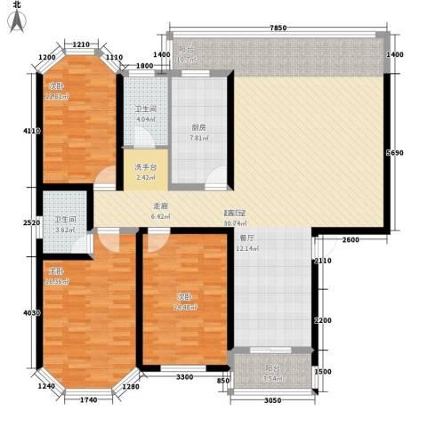 安康丰景佳园二期3室0厅2卫1厨149.00㎡户型图