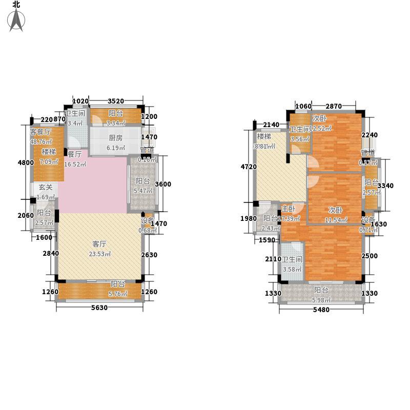 水岸豪庭156.00㎡叠加别墅16、17面积15600m户型