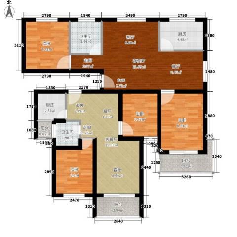 锦绣江南4室2厅2卫2厨125.00㎡户型图