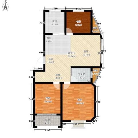 逸景和公馆3室1厅1卫1厨114.00㎡户型图