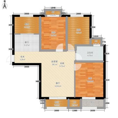 富贵嘉园3室0厅1卫1厨108.00㎡户型图