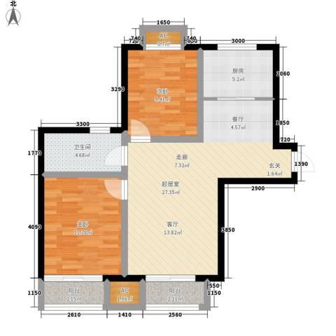 富贵嘉园2室0厅1卫1厨95.00㎡户型图