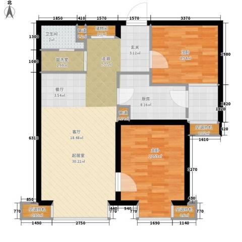 中基礼域2室0厅1卫1厨90.00㎡户型图