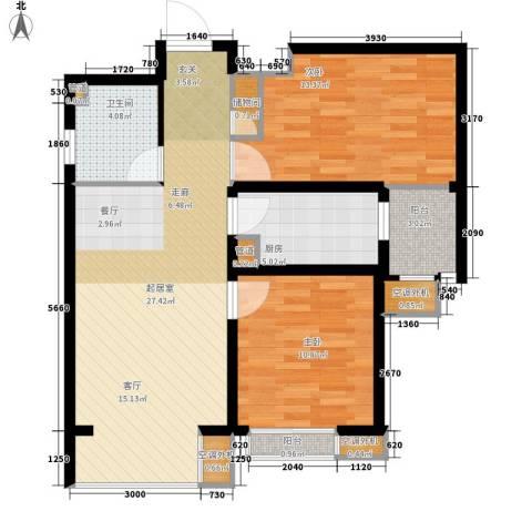 中基礼域2室0厅1卫1厨85.00㎡户型图