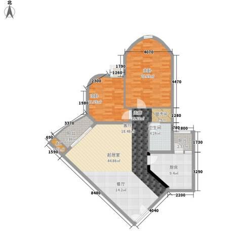 中海锦苑2室0厅1卫1厨109.00㎡户型图