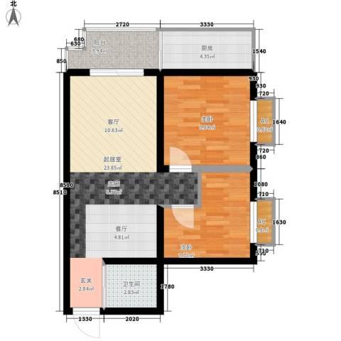 怡兴大厦2室0厅1卫1厨80.00㎡户型图
