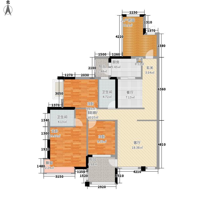 香樟林135.00㎡耀凯凤岭一号10栋G户型3室2厅
