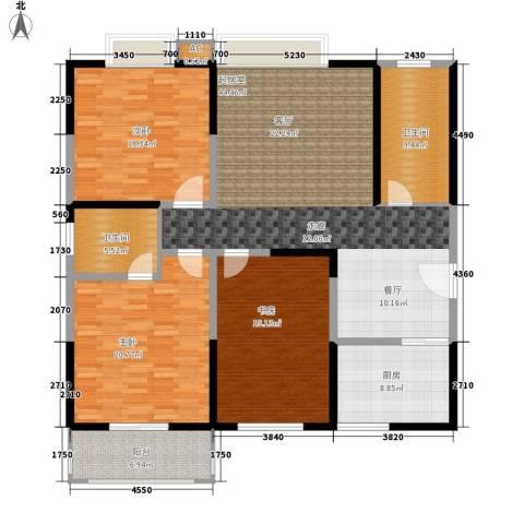 泰德紫玉公馆3室0厅2卫1厨150.00㎡户型图