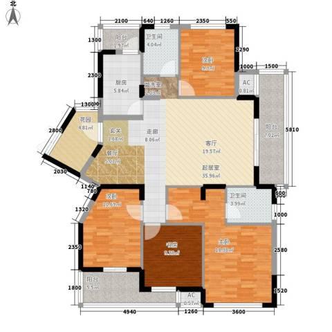 升华公园懿品4室0厅2卫1厨169.00㎡户型图