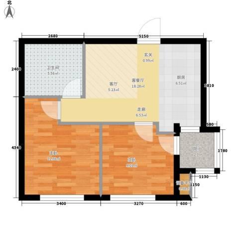 21码头2室1厅1卫0厨66.00㎡户型图