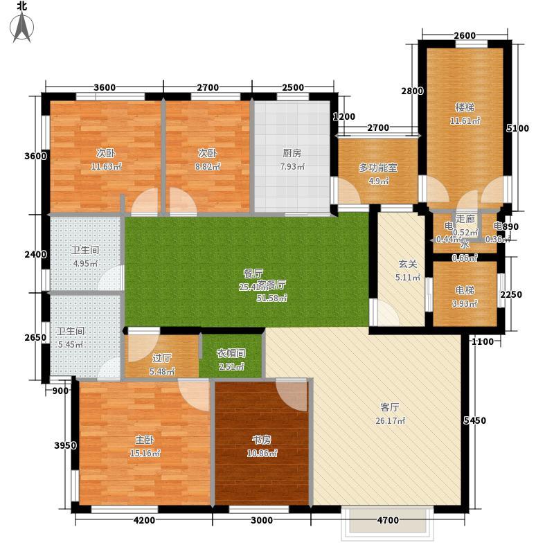 太阳世家166.00㎡户型4室2厅