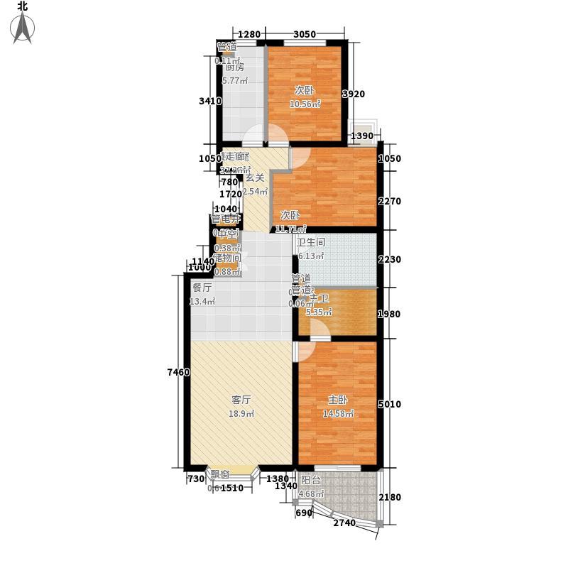 澳景花庭125.97㎡6号楼01号A'户面积12597m户型