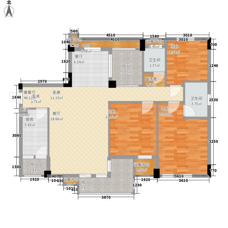 香樟林123.00㎡1、2号楼B户型3室2厅