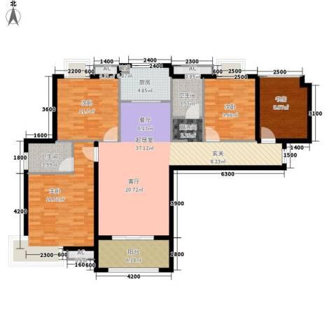 东方今典中央城4室0厅2卫1厨134.00㎡户型图