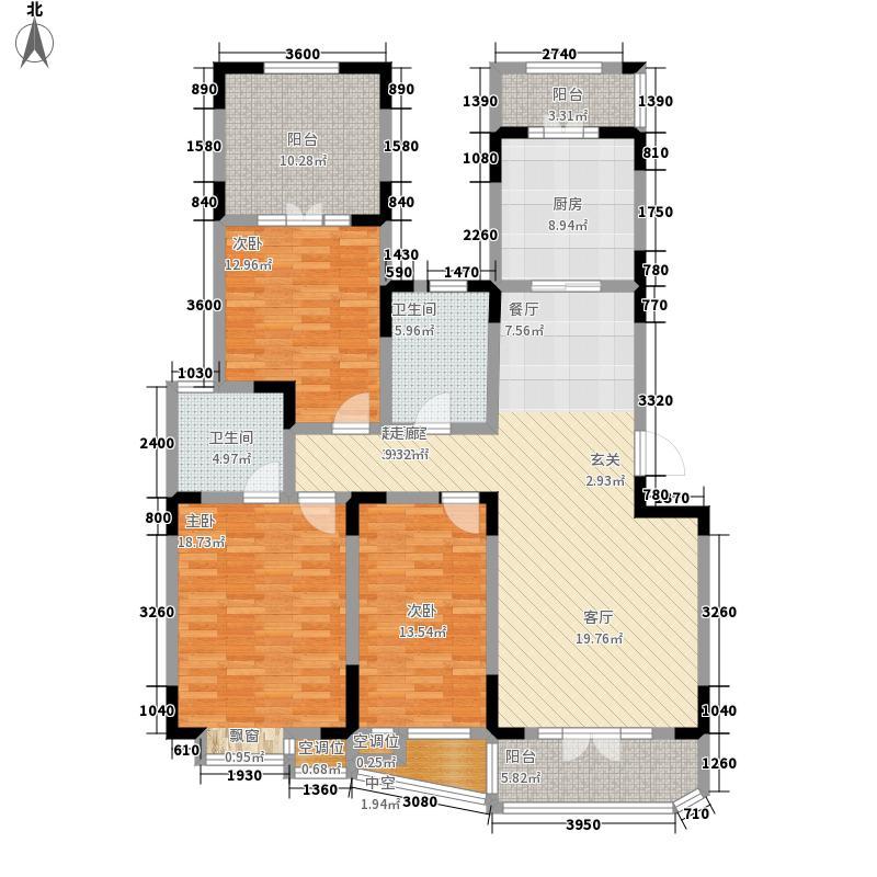 俊城橡树原16号楼l23-1户户型