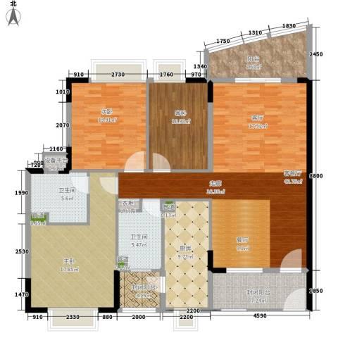 东山紫园3室1厅2卫1厨135.00㎡户型图