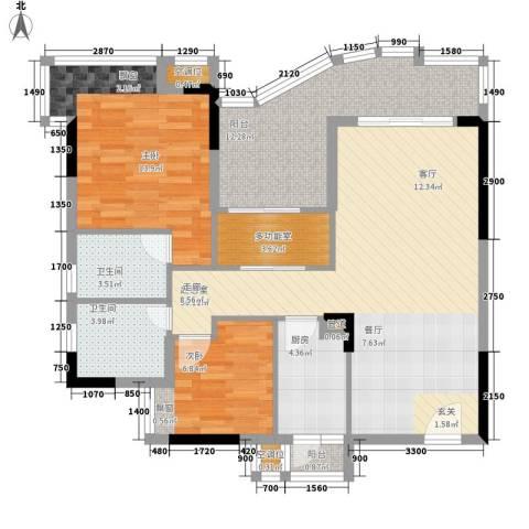 沙田东港城上郡2室0厅2卫1厨94.00㎡户型图