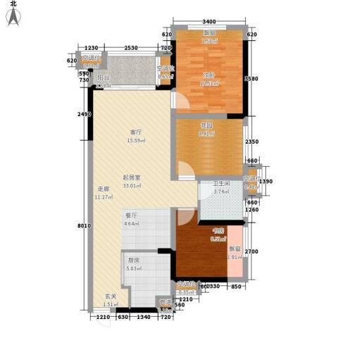 天泽一方2室0厅1卫1厨112.00㎡户型图