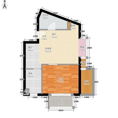莱镇香格里1室0厅1卫1厨60.00㎡户型图