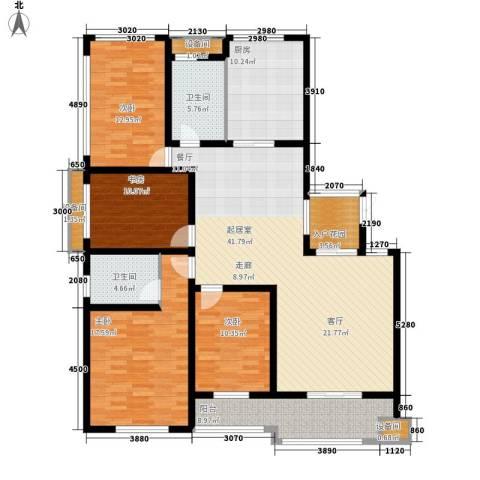 雨山美地4室0厅2卫1厨128.98㎡户型图