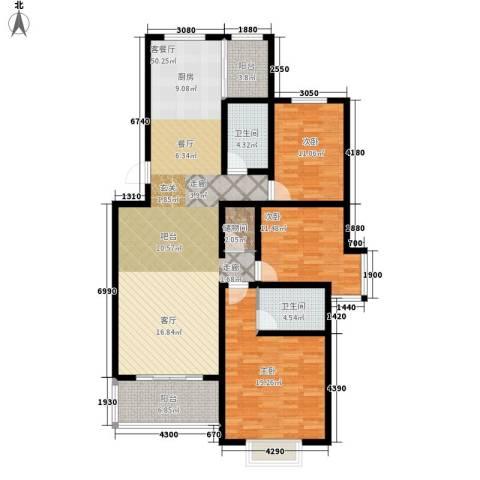 三吉花园3室1厅2卫0厨134.00㎡户型图