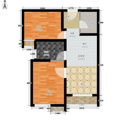 温莎公寓2室0厅1卫1厨83.00㎡户型图