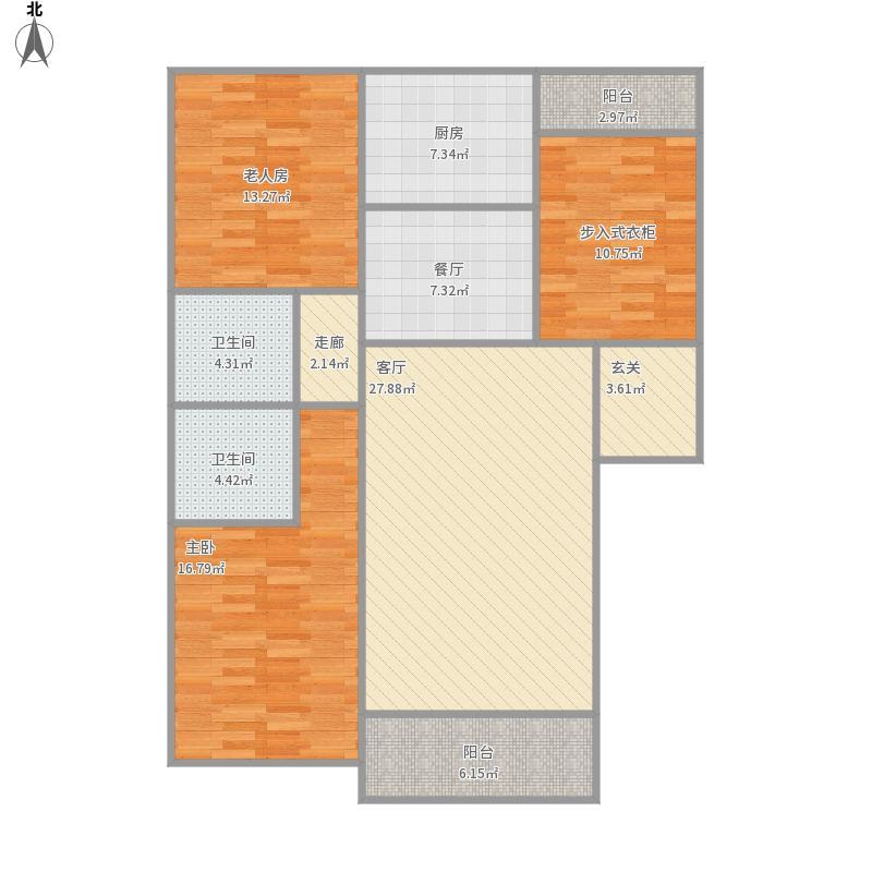 鑫欣佳园136平米设计