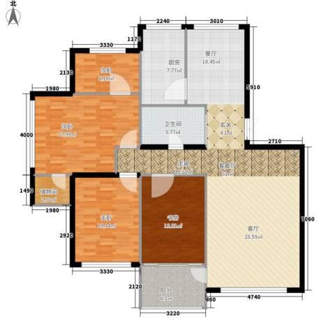 鸿旺阳光小区4室1厅1卫1厨170.00㎡户型图