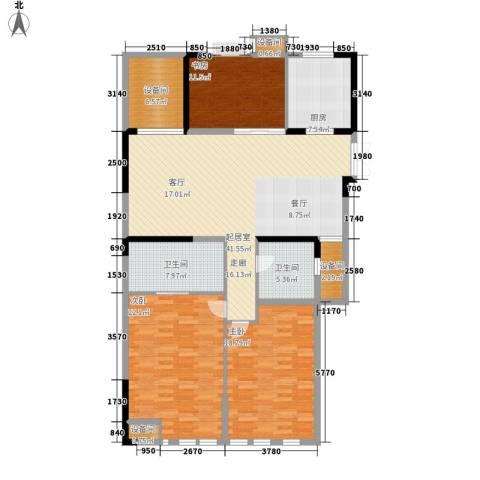 栖庭3室0厅2卫1厨140.00㎡户型图