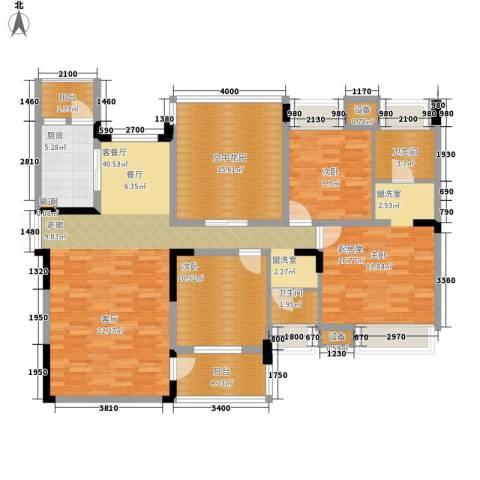 中海北滨华庭2室1厅2卫1厨161.00㎡户型图