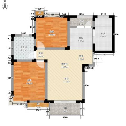 吴淞新村2室1厅1卫1厨89.00㎡户型图