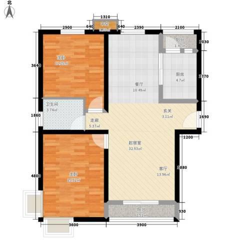 复兴之门2室0厅1卫1厨103.00㎡户型图