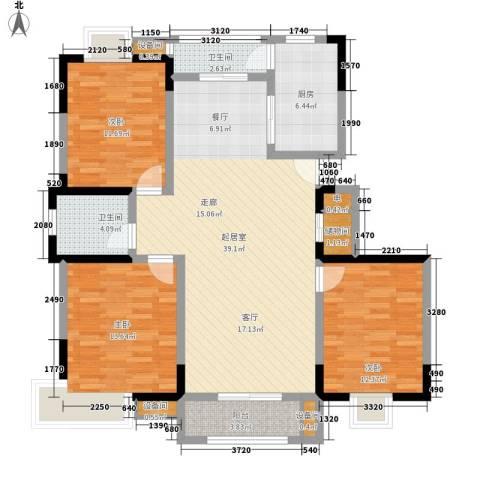 雨山美地3室0厅2卫1厨99.00㎡户型图