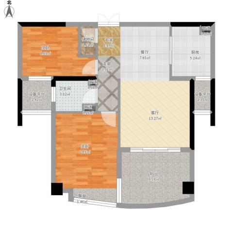 瑞宏・阳光水岸2室1厅1卫1厨105.00㎡户型图