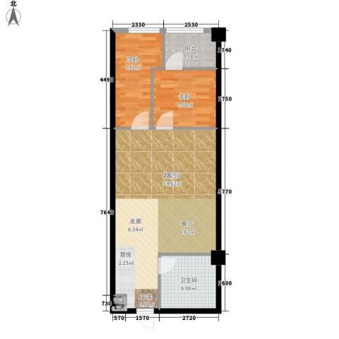 嘉盛国际广场2室1厅1卫0厨63.00㎡户型图