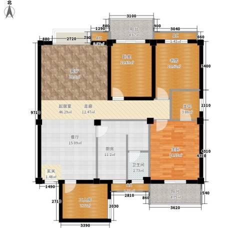 马王堆陶瓷建筑新城2室0厅1卫1厨169.00㎡户型图