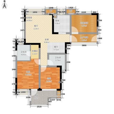 希望城2室0厅2卫1厨91.00㎡户型图