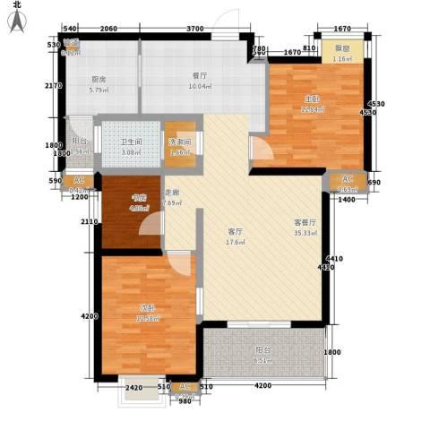 锦逸国际城3室1厅1卫1厨117.00㎡户型图