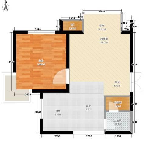 丹尼尔金色时代公寓1室0厅1卫0厨66.00㎡户型图