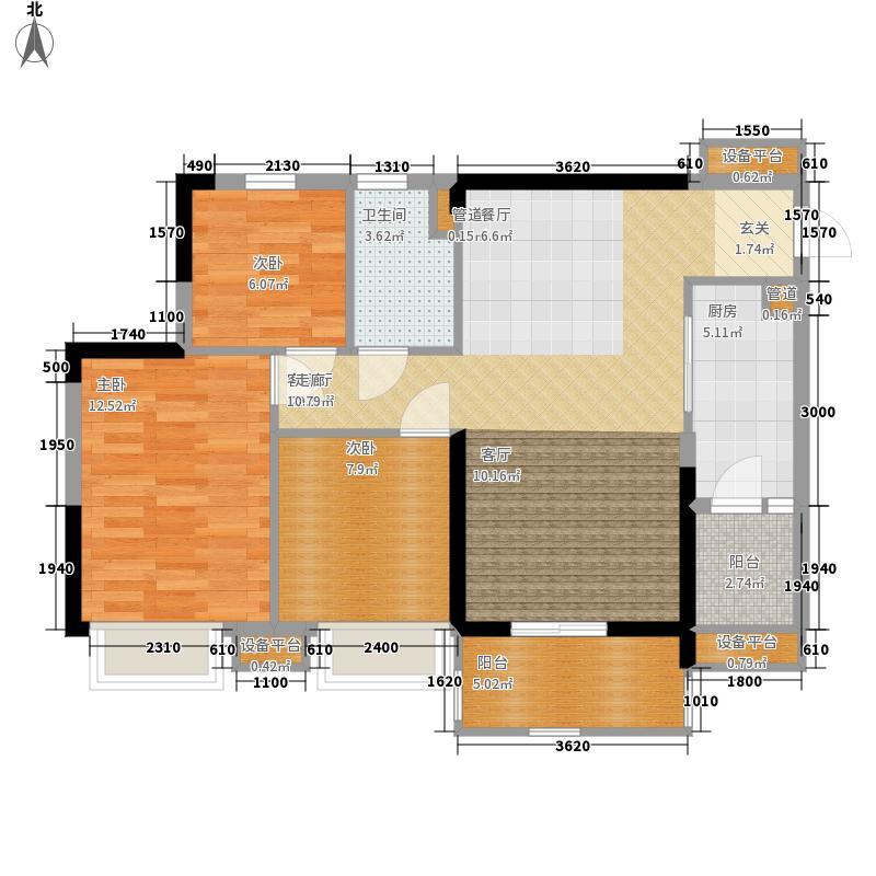锦绣天伦花园13座3梯03单位户型3室2厅