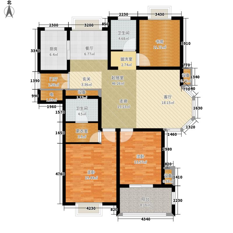 东岸143.00㎡1#3#9#15#16#19#楼标准层A户型