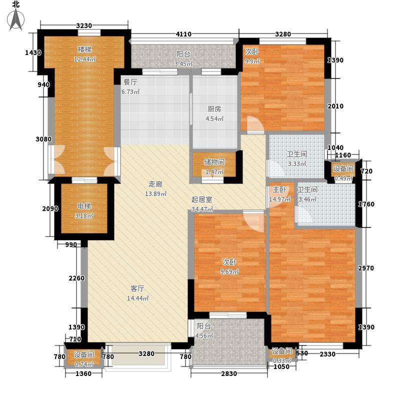 鸿雁名居123.00㎡三期3、8号楼标面积12300m户型