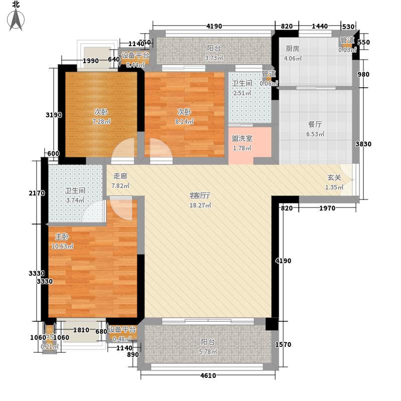2/3/5#03户型,建筑面积约:114㎡ 三房两厅两卫