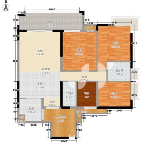 富力银禧花园4室0厅2卫1厨147.00㎡户型图